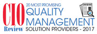 20 Most Promising Quality Management Solution Providers - 2017